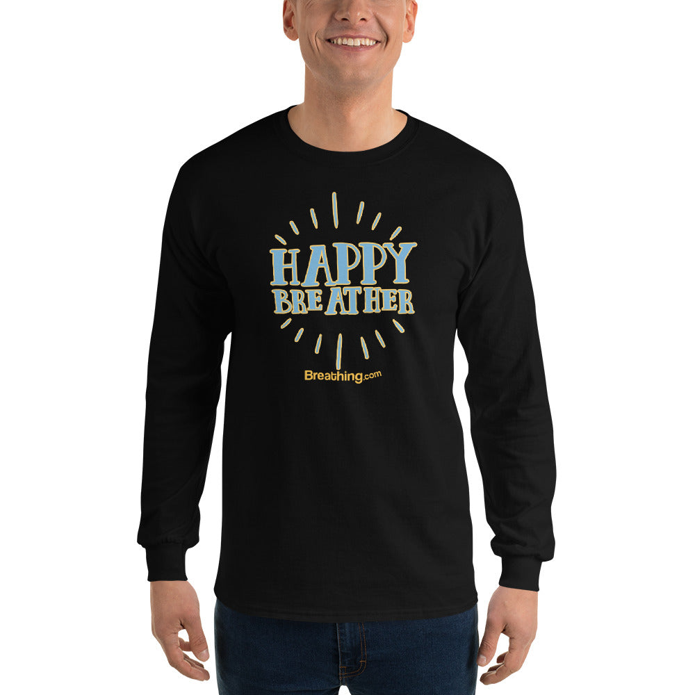 Ultra Cotton Long Sleeve T-Shirt - Happy Breather
