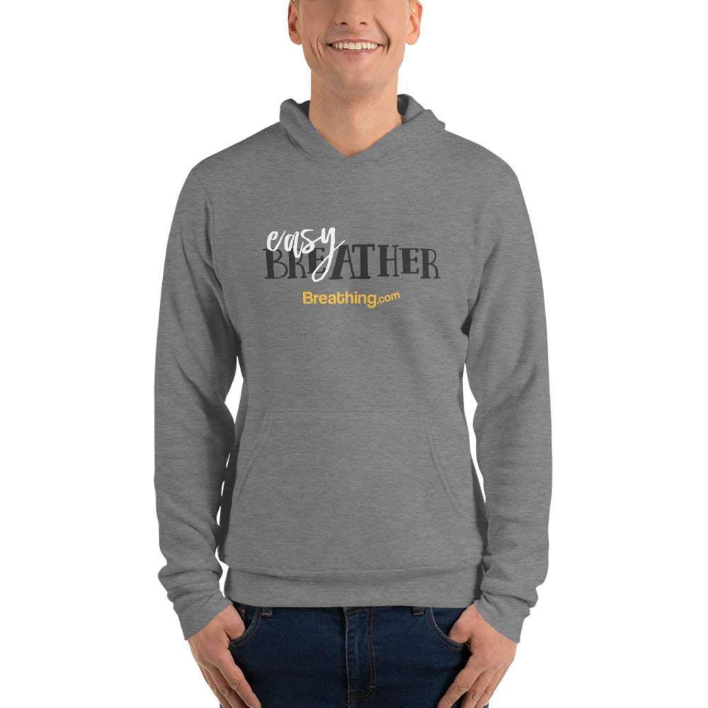 Unisex Fleece Pullover Hoodie - Easy Breather - Breathing.com