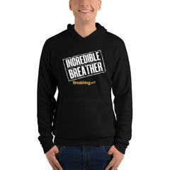 Unisex Fleece Pullover Hoodie - Incredible Breather - Breathing.com