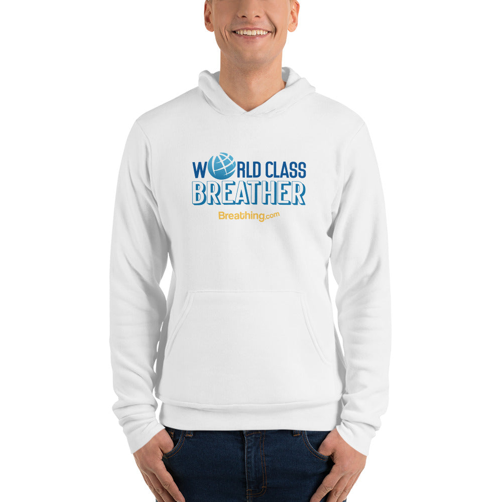 Unisex Fleece Pullover Hoodie - World Class Breather - Breathing.com