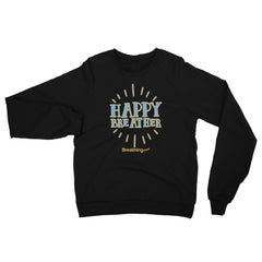 Unisex California Fleece Raglan Sweatshirt - Happy Breather - Breathing.com