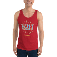 Unisex Jersey Tank  - Happy Breather - Breathing.com