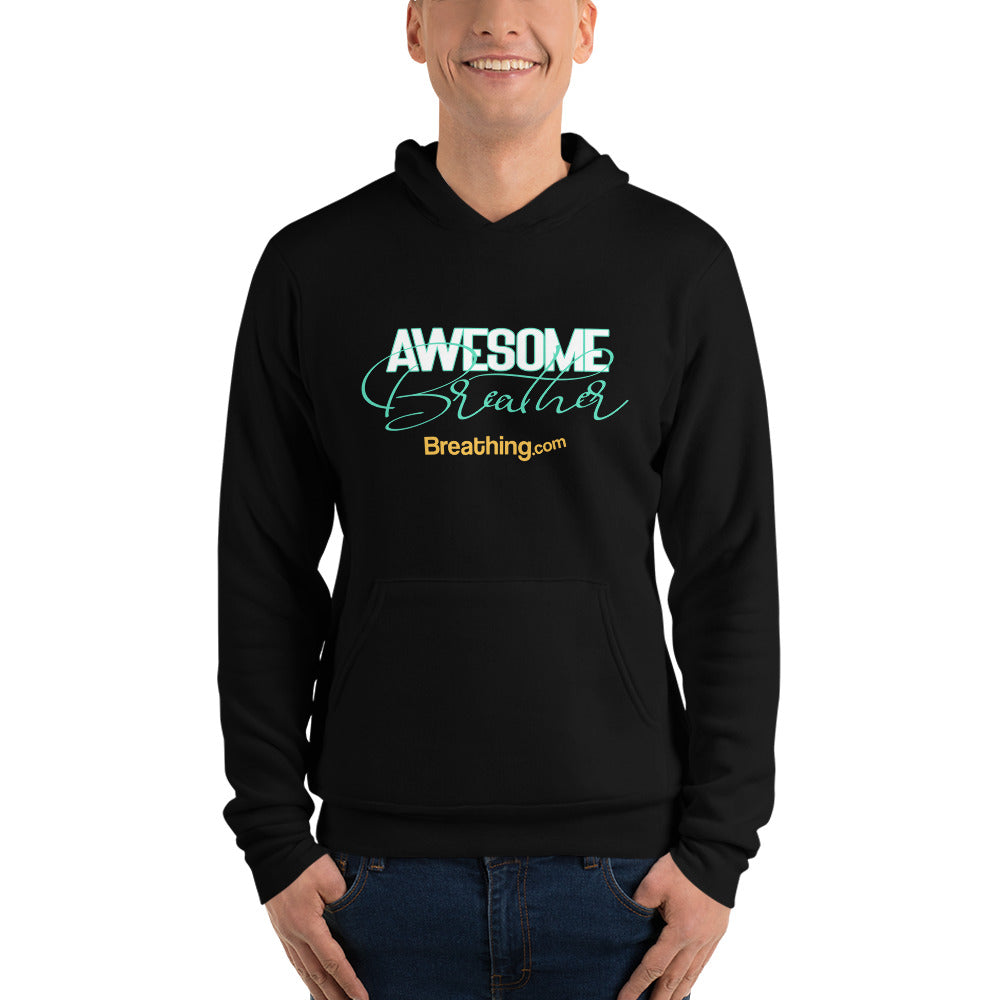 Unisex Fleece Pullover Hoodie -Awesome Breather - Breathing.com