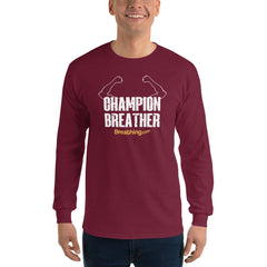 Ultra Cotton Long Sleeve T-Shirt - Champion Breather - Breathing.com