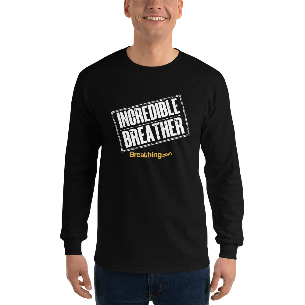Ultra Cotton Long Sleeve T-Shirt - Incredible Breather - Breathing.com