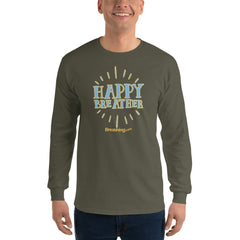 Ultra Cotton Long Sleeve T-Shirt - Happy Breather - Breathing.com