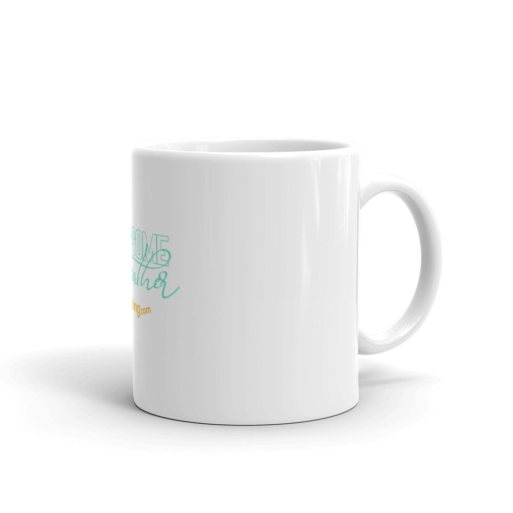 """White Glossy Mug "" - Awesome Breather"