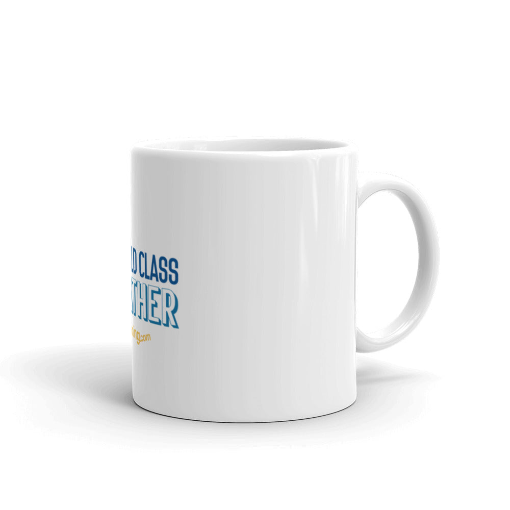 """White Glossy Mug"" - World Class Breather - Breathing.com"