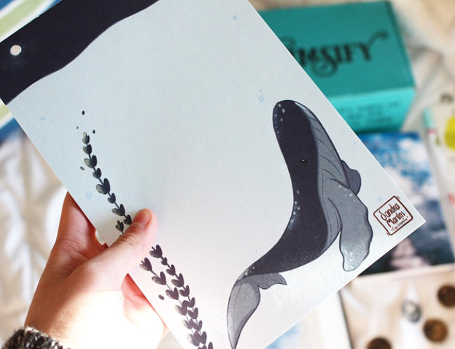 Oversized Whale Notepad