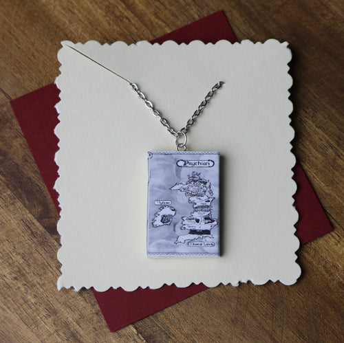 Map of Prythian Mini Book Necklace