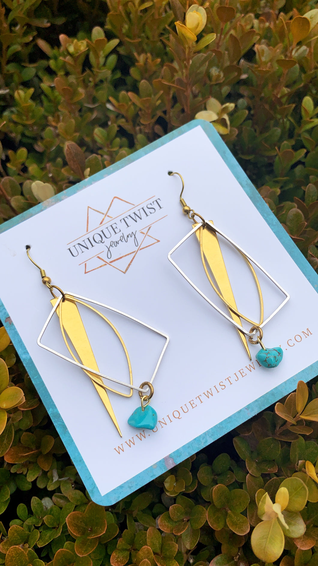 The Bessie Statement Earrings. Celebrate notable women. Handmade jewelry by Unique Twist Jewelry.