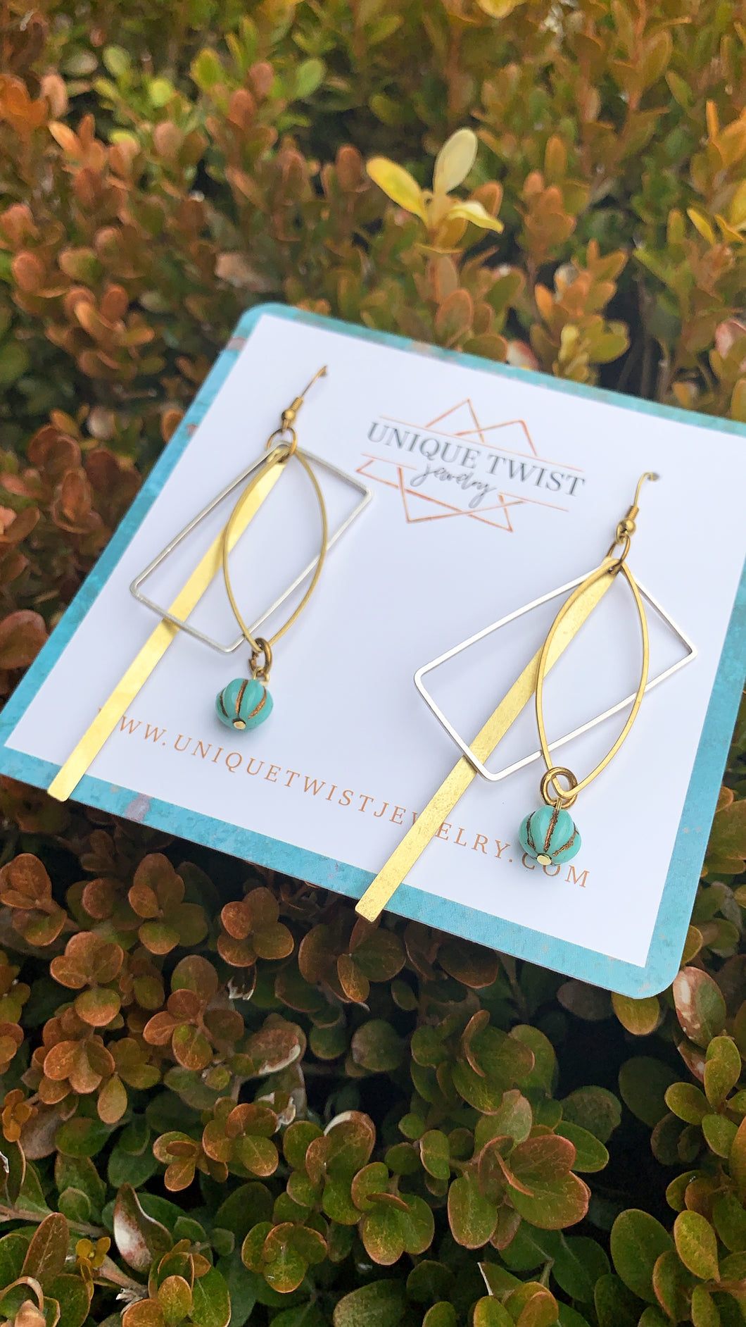 Honoring Emmeline Pankhurst with our Emmeline Earrings. She helped British women win their right to vote. Honoring notable women. Handmade jewelry by Unique Twist Jewelry.