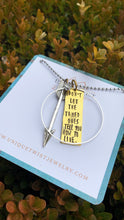 "Don't let the tamed ones tell you how to live"" Hand-Stamped Necklace. Handmade jewelry by Unique Twist Jewelry."