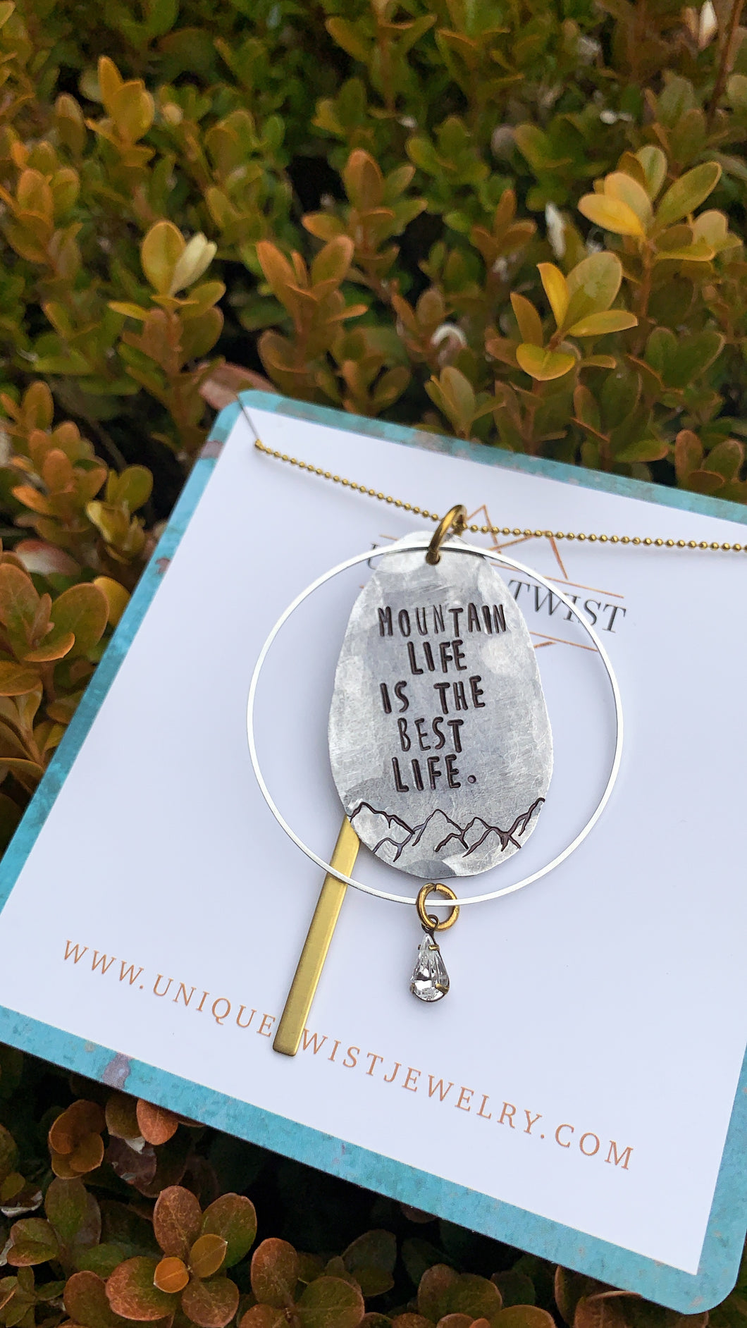 Mountain Life is the Best Life Necklace