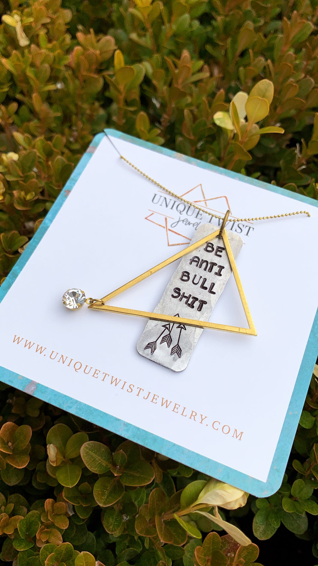 Be Anti Bullshit Charm Necklace