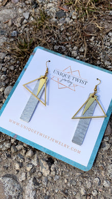 The Ellen Earrings. Handmade jewelry by Unique Twist Jewelry.