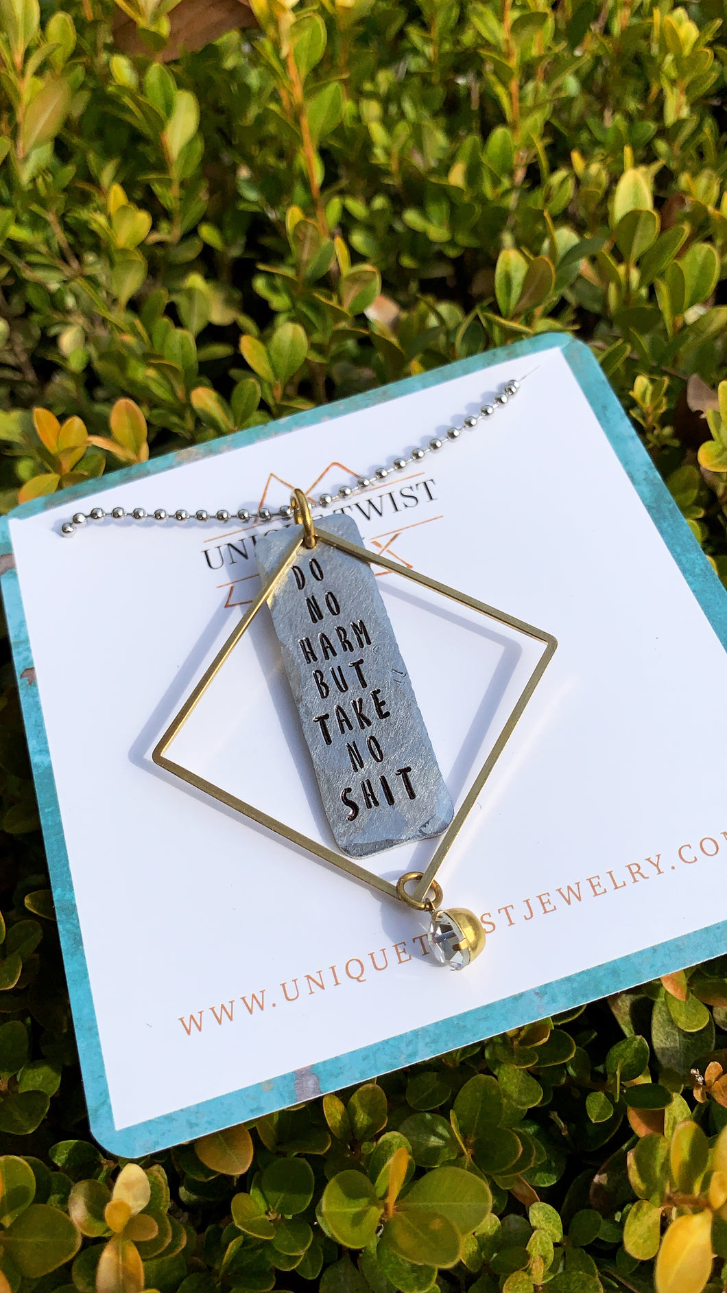 Do No Harm But Take No Shit. Necklace