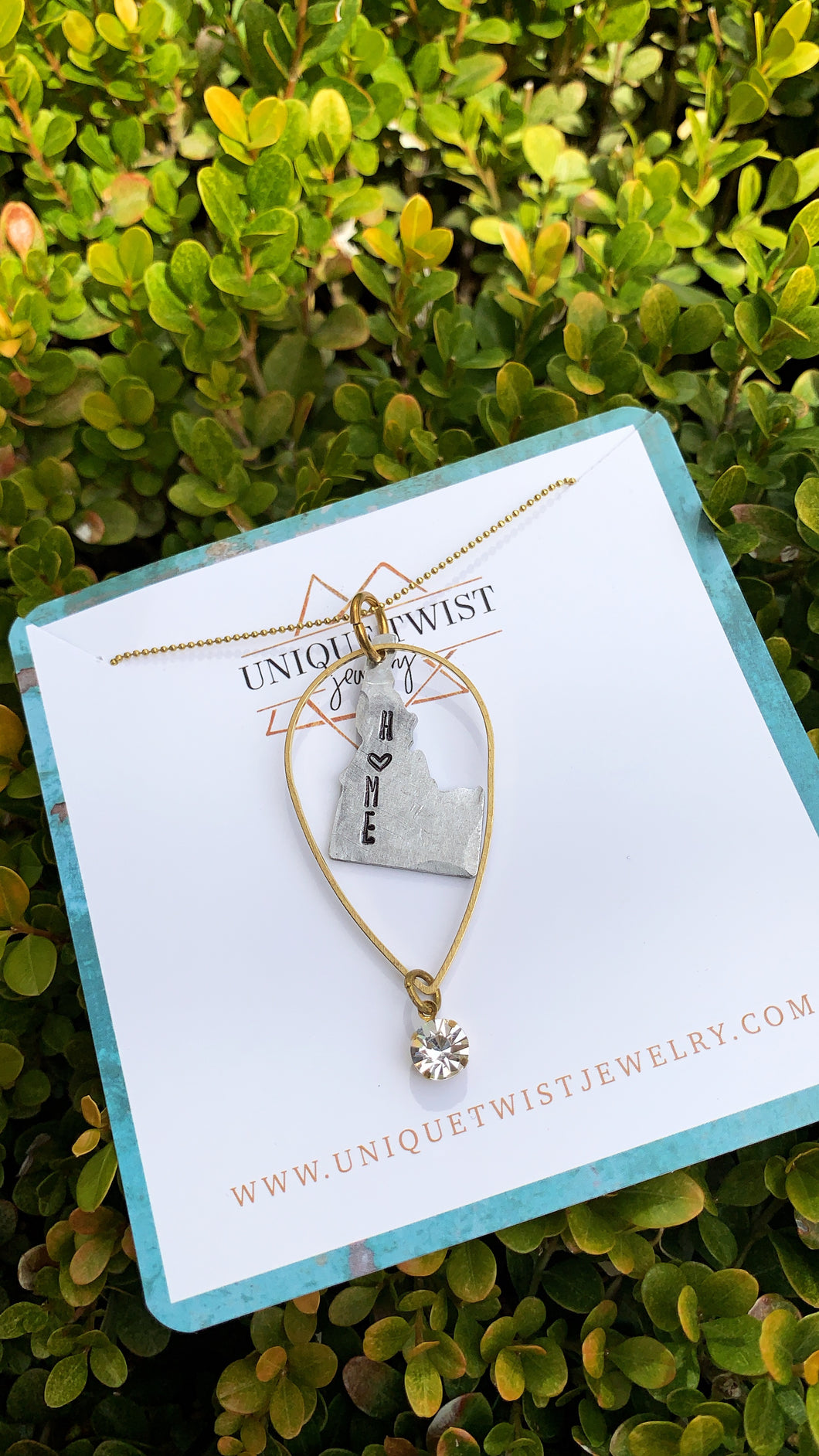 State Love Pendant Necklace