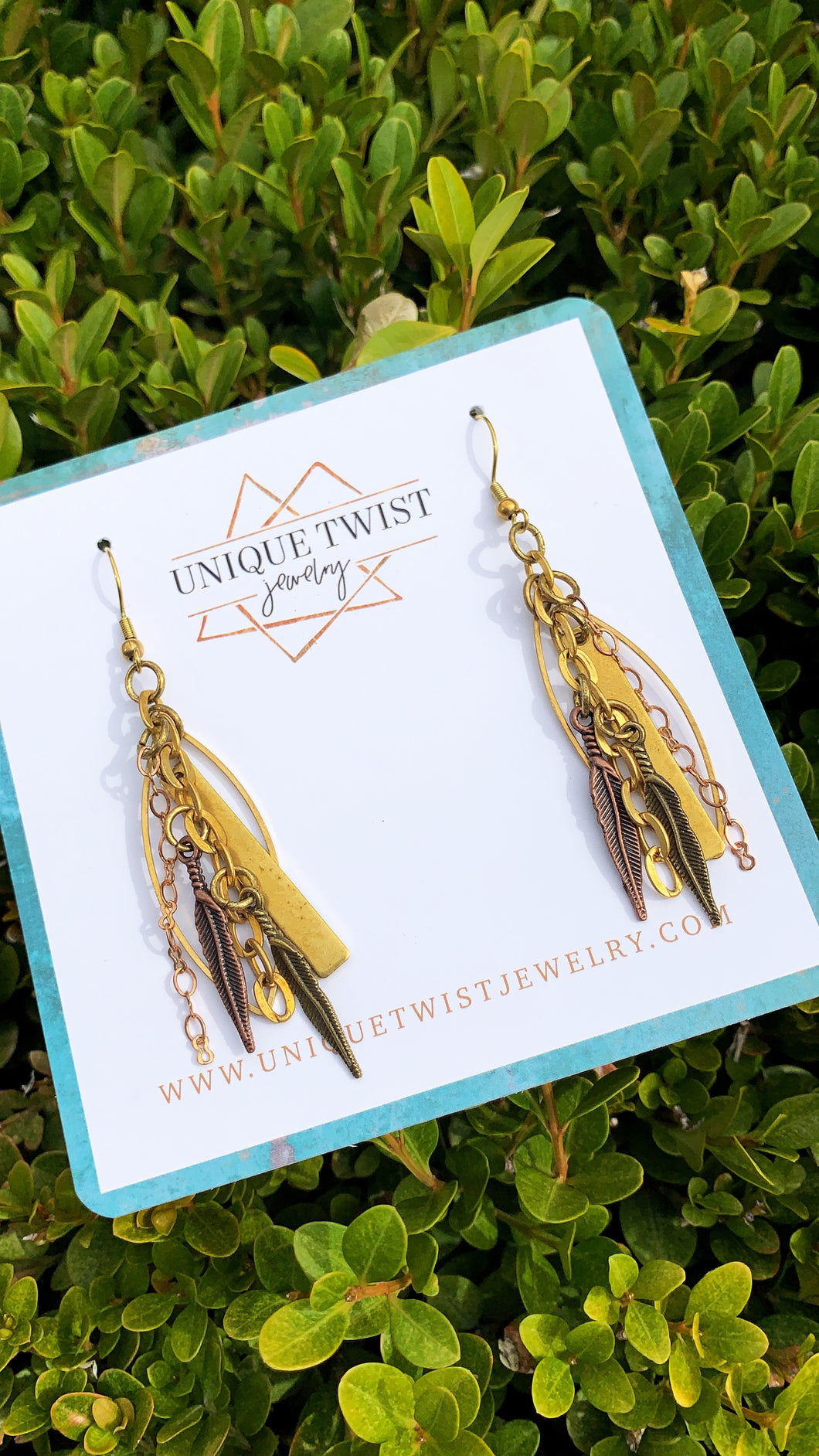 Honoring musician Janis Joplin with our Janis Earrings. Honoring notable women. Handmade jewelry by Unique Twist Jewelry.