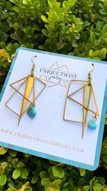Honoring Rosie the Riveter with our Rosie Earrings. Honoring badass women. Handmade jewelry by Unique Twist Jewelry.