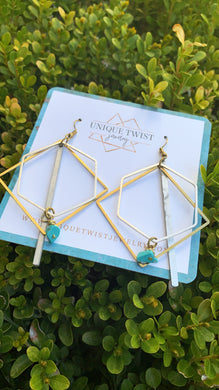 Honoring Egyptian Queen Nefertiti with our Nefertiti Earrings. Honoring notable women. Handmade jewelry by Unique Twist Jewelry.