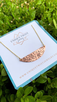 Copper Hand-Stamped Idaho Moon Necklace. Handmade jewelry by Unique Twist Jewelry.