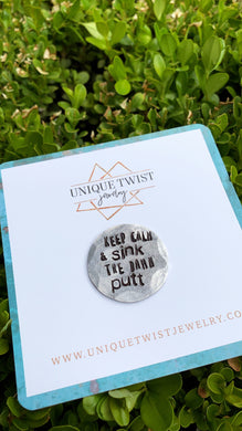 Keep Calm Golf Ball Marker