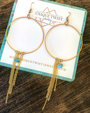In honor of Calamity Jane. The Calamity Earrings. Honor notable women. Handmade jewelry by Unique Twist Jewelry.