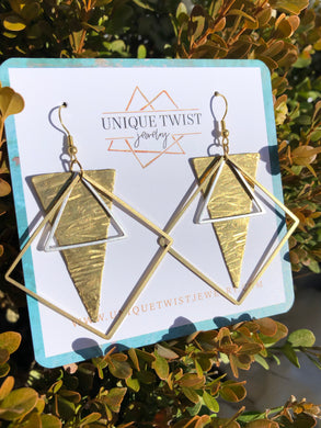 Honoring Pat Benatar with our Pat Earrings. Honoring Badass Women. Handmade jewelry by Unique Twist Jewelry.