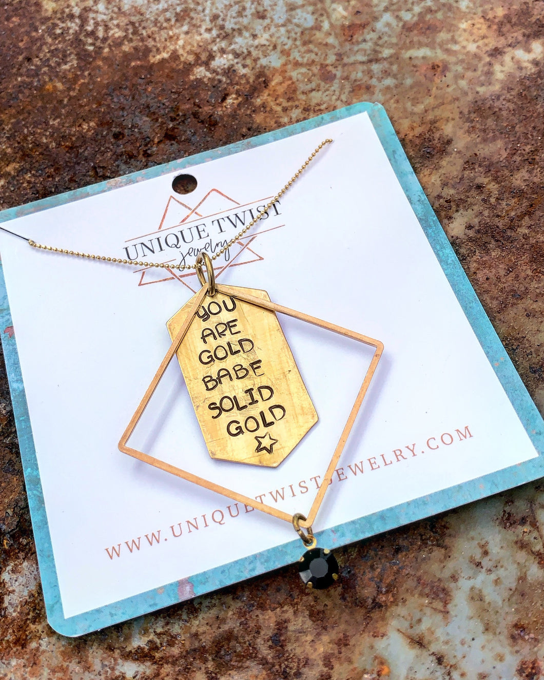 Solid Gold Babe Necklace