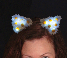 Lighted daisy ears headband