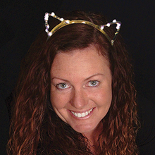 Lighted cat ears headband LED bulbs