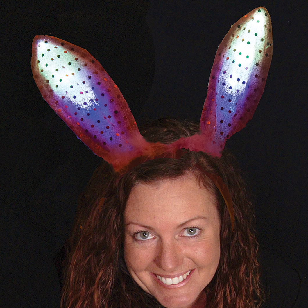 Lighted bunny ears headband