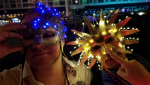 Lighted sun masquerade mask