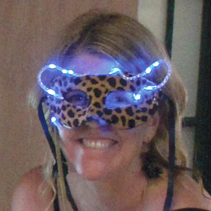 Animal print masquerade mask