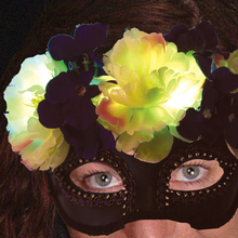 Lighted Floral masquerade mask