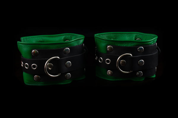 4438 Leather Bondage Gear - Ankle Cuffs