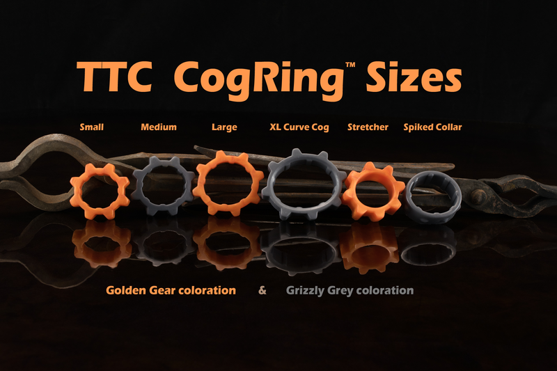 TTC Cog Rings - Twin Tail Creations premium silicone gear. Cockrings and ball stretcher in 6 different sizes.