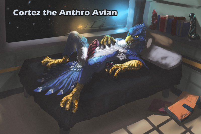 Cortez the Anthro Avian Character art from TwinTailCreations - the science fiction character of fantasy sex toys