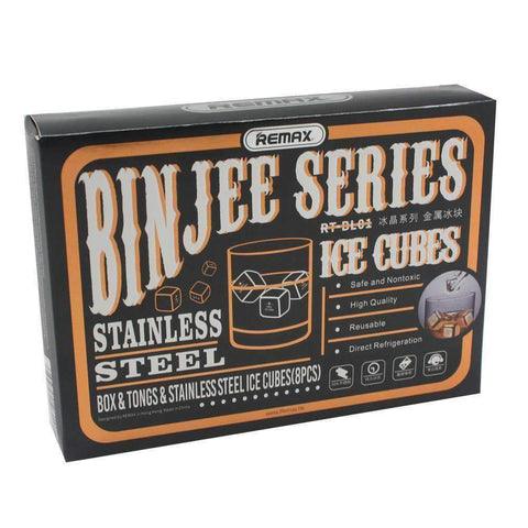Binjee Steel Ice Cube Gift Set | Glassware | The Design Store NZ