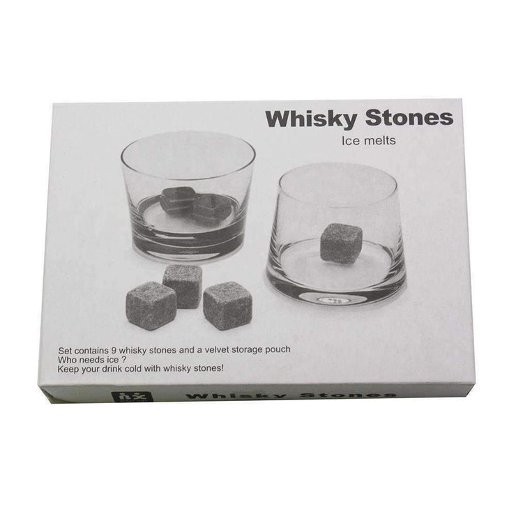 Whisky Stone Set Grey In White Box | Glassware | The Design Store NZ