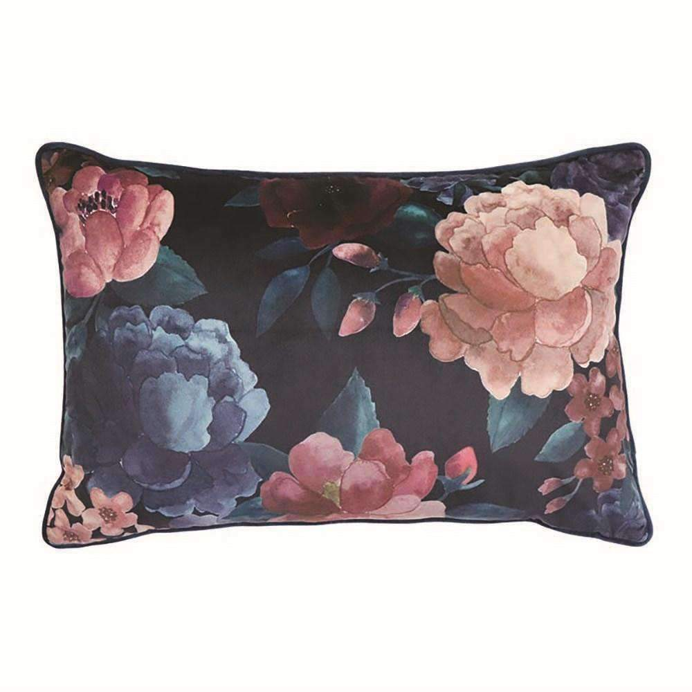 Eclipse Floral Velvet Cushion | Cushions | The Design Store NZ