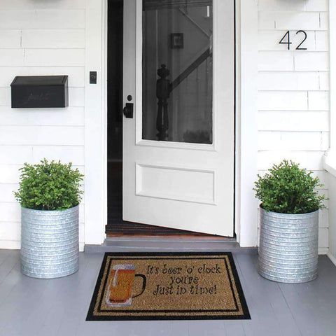 Coir Mat Its Beer OClock | Doormats | The Design Store NZ