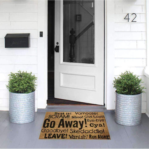 Coir Mat Go Away | Doormats | The Design Store NZ