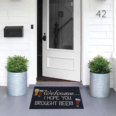 Coir Mat I Hope You Brought Beer | Doormats | The Design Store NZ
