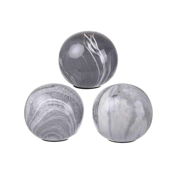 Individual Marbleised Ball Assorted 10cm - The Design Store NZ