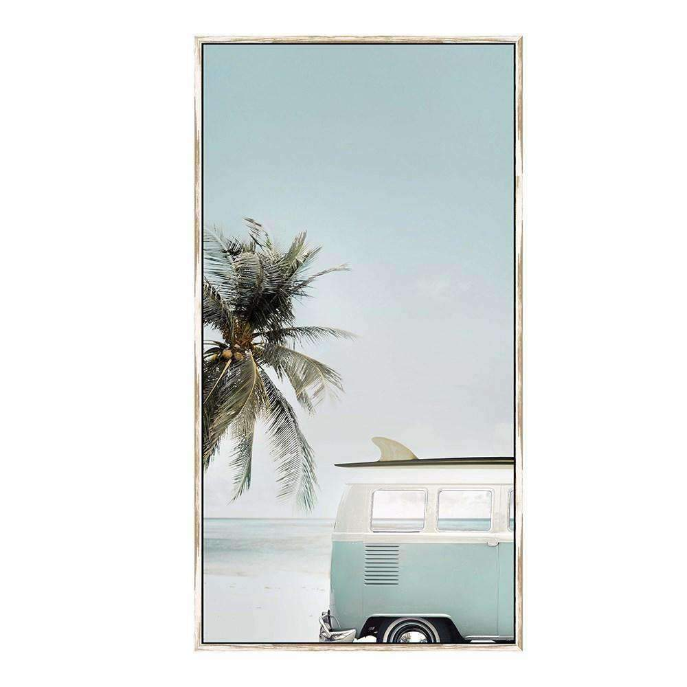 Framed Art Seaside Kombi | Wall Art | The Design Store NZ