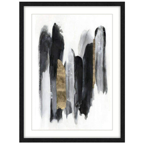 Framed Art Black and Gold Feathers | Wall Art | The Design Store NZ