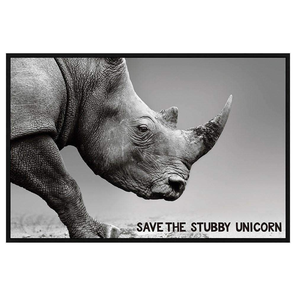 Framed Canvas Save The Stubby Unicorn | Wall Art | The Design Store NZ