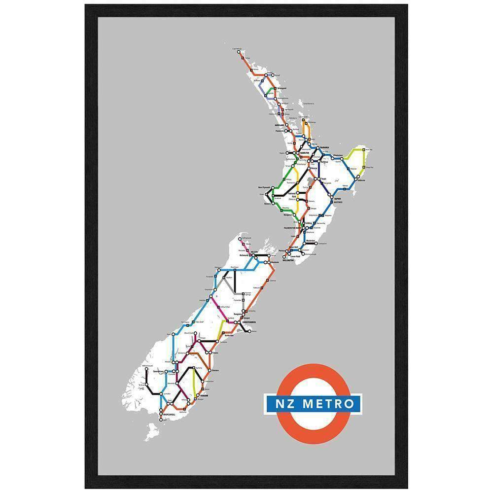 Framed Art New Zealand Highways | Wall Art | The Design Store NZ